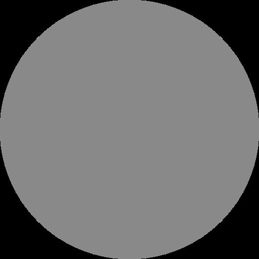 Icône de cercle gris (symbole png) gris