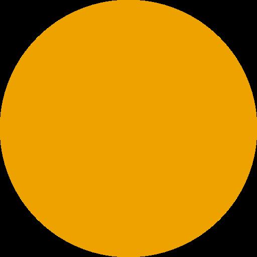 Icône de cercle rempli jaune (symbole png)