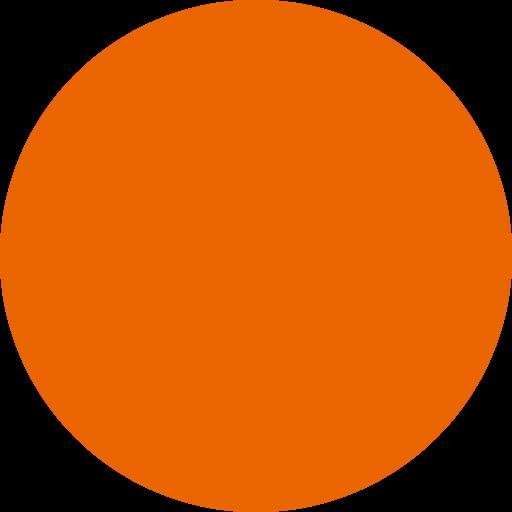 Icône de cercle rempli orange (symbole png)