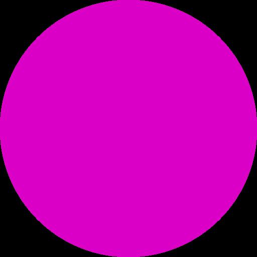 Icône remplie de cercle rose (symbole png)