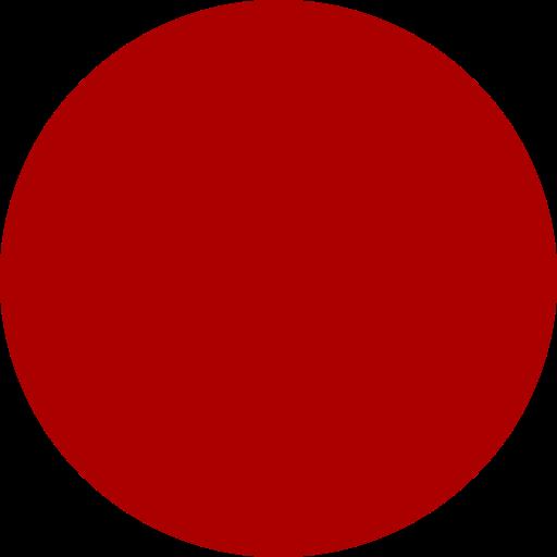 Icône de cercle rempli rouge (symbole png)