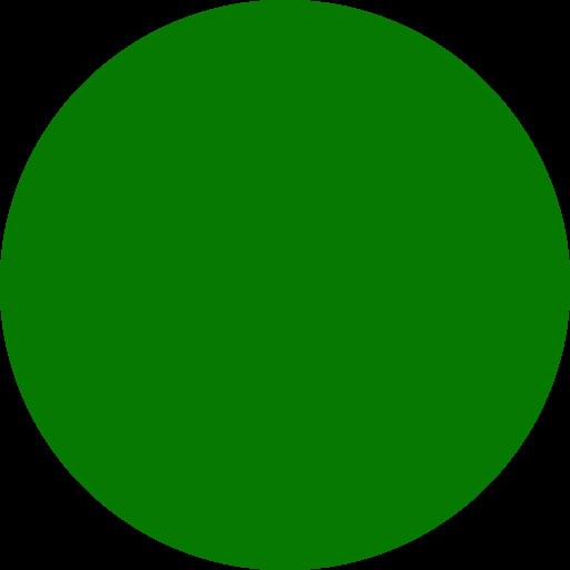 Icône de cercle vert (symbole png) vert