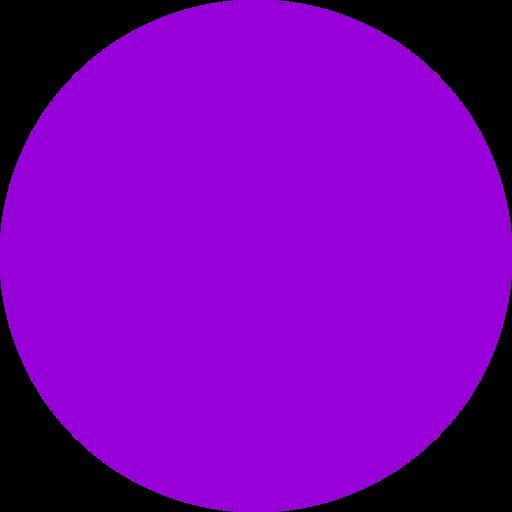 Icône de cercle rempli de violet (symbole png)