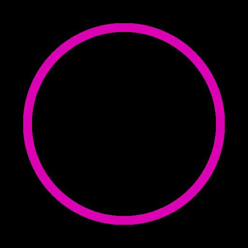 Icône de cercle rose (symbole png)
