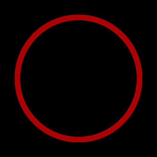 Icône de cercle rouge (symbole png)