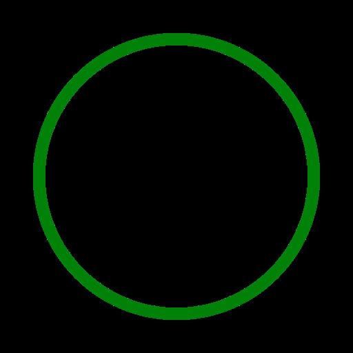 Icône de cercle vert (symbole png)