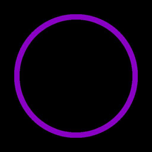 Icône de cercle violet (symbole png)