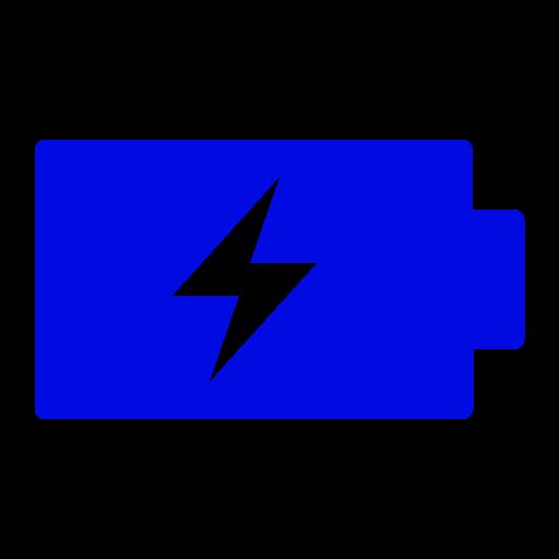 Icône de batterie (symbole png) bleu