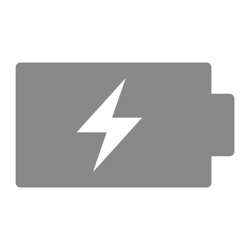 Icône de batterie (symbole png) grise