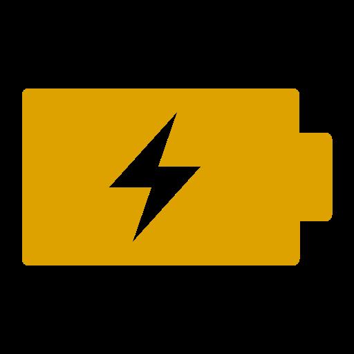 Icône de batterie (symbole png) jaune