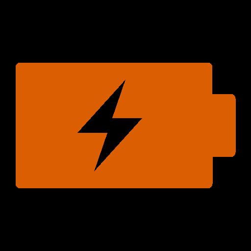 Icône de batterie (symbole png) orange