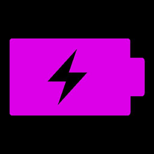 Icône de batterie (symbole png) rose