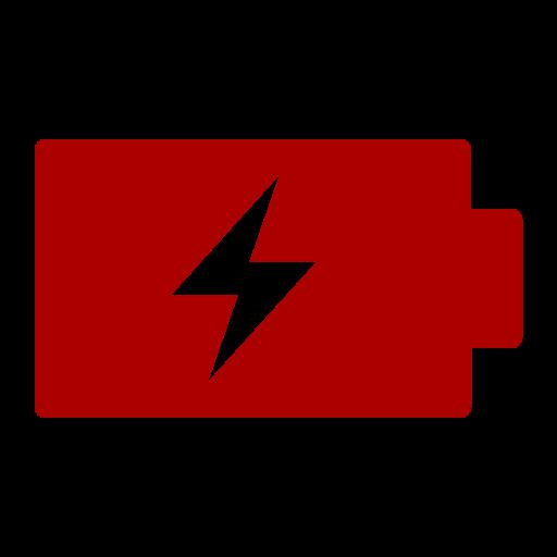 Icône de batterie (symbole png) rouge