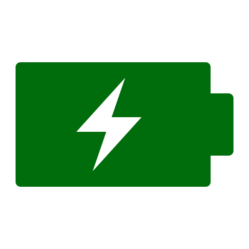 Icône de batterie (symbole png) verte