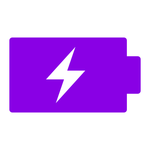 Icône de batterie (symbole png) violet
