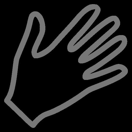 Icône de la main grise (symbole png)