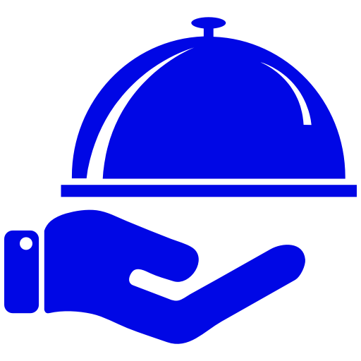 Icône de nourriture bleue (symbole png)