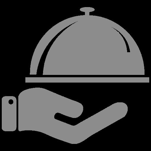 Icône de nourriture grise (symbole png)