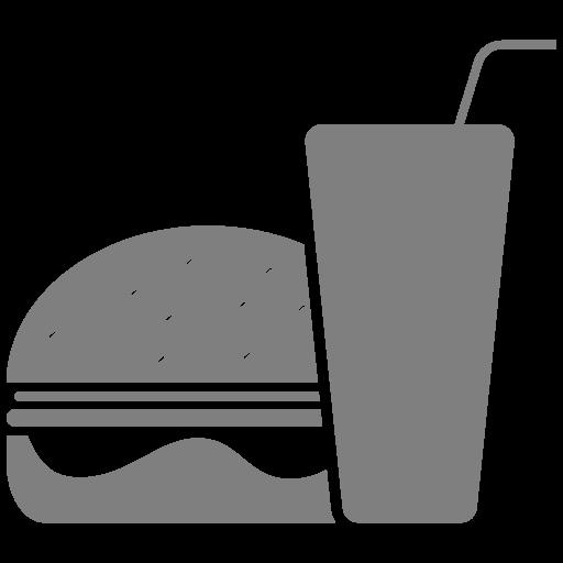 Icône de nourriture hamburger gris (symbole png)