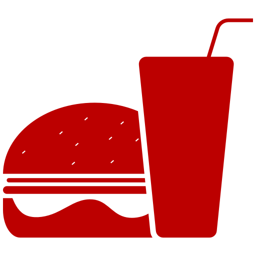 Icône de nourriture hamburger rouge (symbole png)