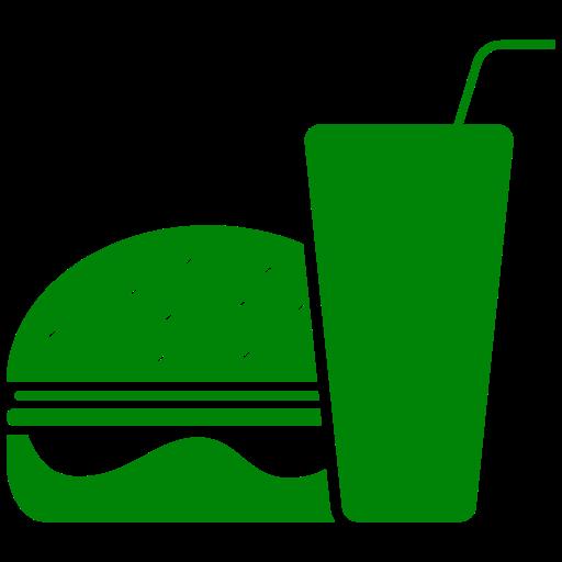 Icône de nourriture hamburger vert (symbole png)