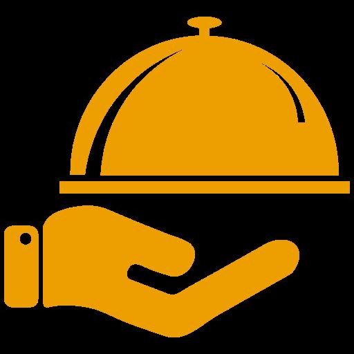 Icône de nourriture jaune (symbole png)