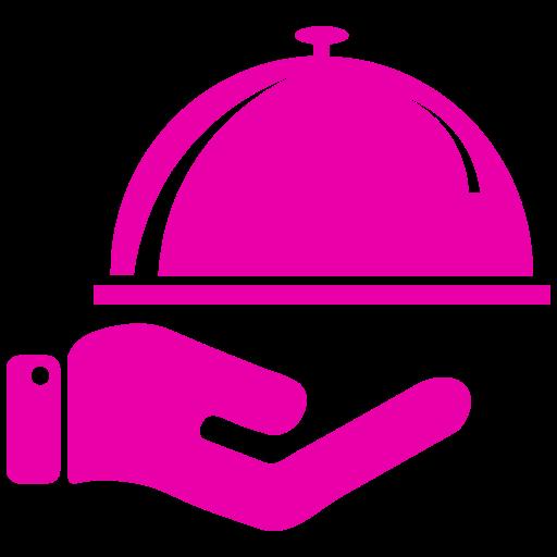 Icône de nourriture rose (symbole png)