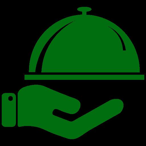 Icône de nourriture verte (symbole png)