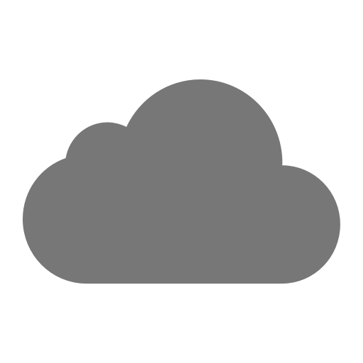 Icône de nuage gris (symbole png)