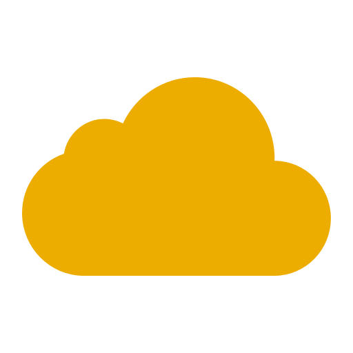 Icône de nuage jaune (symbole png)