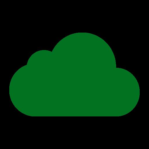 Icône de nuage vert (symbole png)