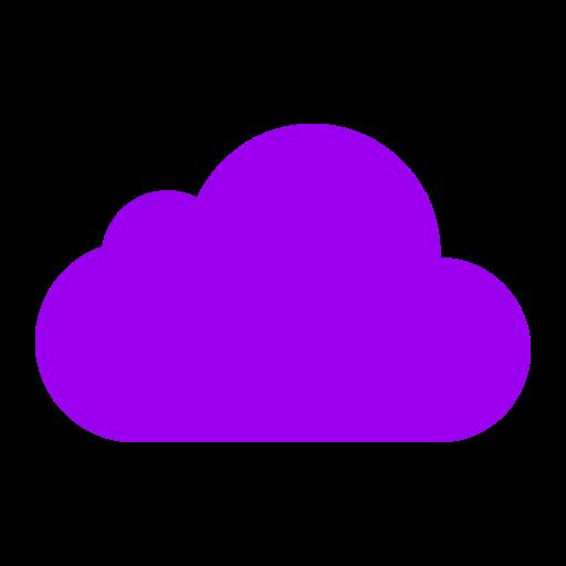 Icône de nuage violet (symbole png)