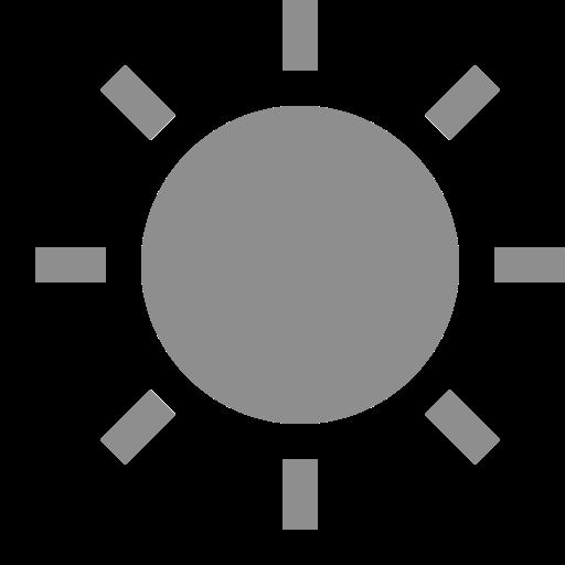 Icône de soleil gris (symbole png)