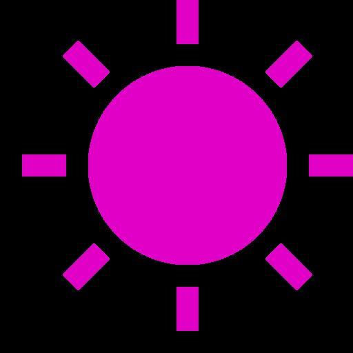 Icône de soleil rose (symbole png)
