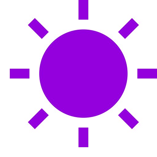 Icône de soleil violet (symbole png)