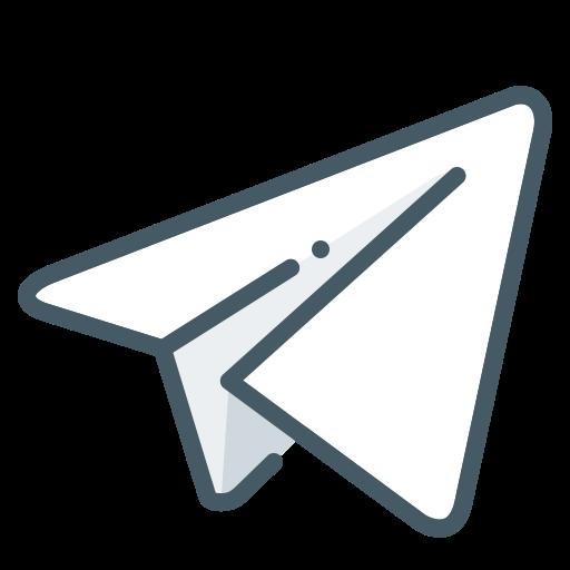 Icône de télégramme (symbole du logo)