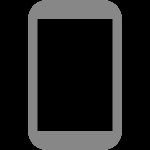 Icône de téléphone portable gris (symbole png)