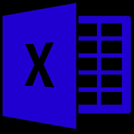Icône Excel (symbole png) bleu