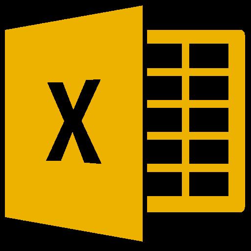 Icône Excel (symbole png) jaune