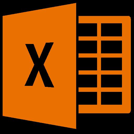 Icône Excel (symbole png) orange
