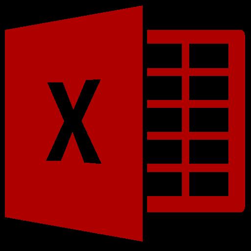 Icône Excel (symbole png) rouge