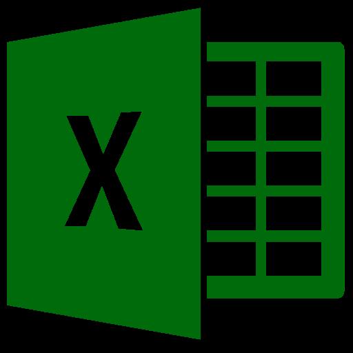Icône Excel (symbole png) verte
