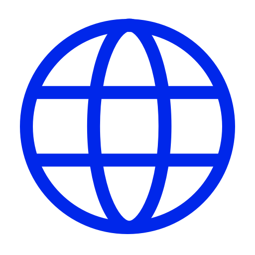 Icône internet bleue (symbole png)