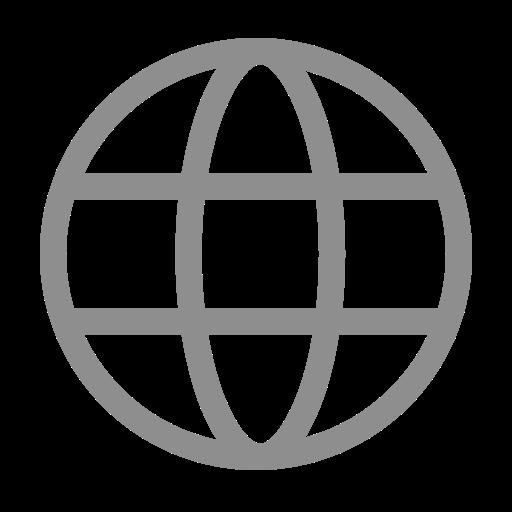 Icône internet grise (symbole png)