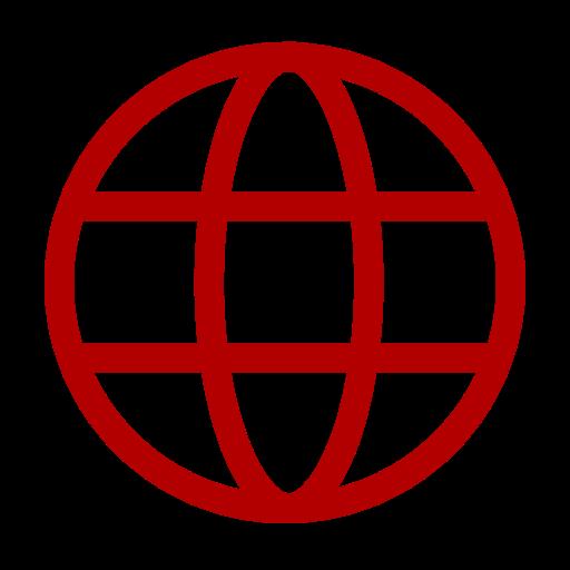 Icône internet rouge (symbole png)