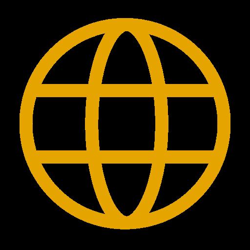 Icône internet jaune (symbole png)