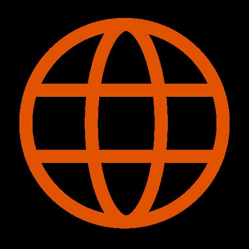 Icône internet orange (symbole png)