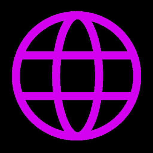 Icône internet rose (symbole png)