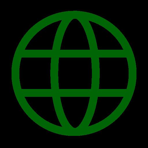 Icône internet verte (symbole png)