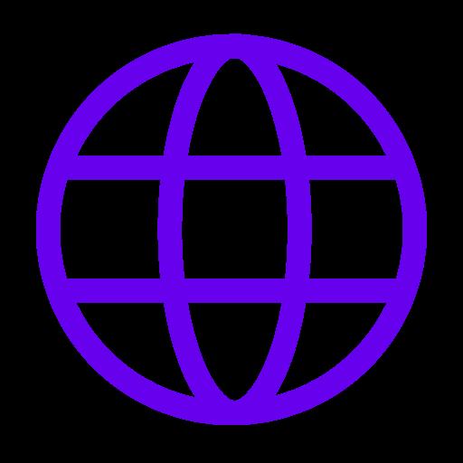 Icône internet violet (symbole png)